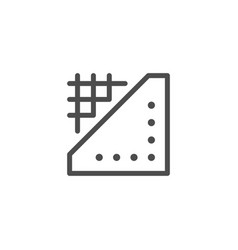 insulation line icon vector image