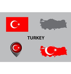 Map of Turkey and symbol vector image vector image