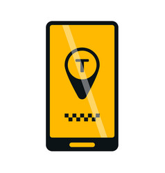 mobile phone online taxi icon vector image