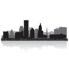 Providence USA city skyline silhouette vector image vector image