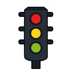 Traffic light icon image vector