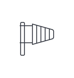 Windsock wind weather thin line icon linear vector