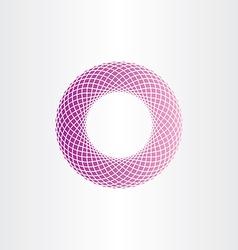 abstract geometric purple circle halftone vector image