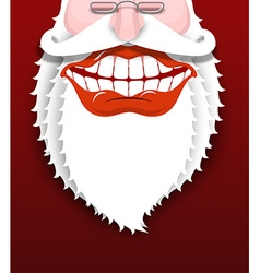 Jolly Santa Claus Joyful grandfather with white vector image vector image