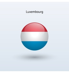 Luxembourg round flag vector image