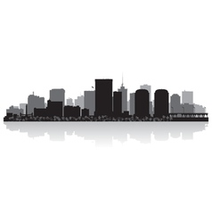 Richmond USA city skyline silhouette vector image