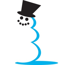 Snowman hat vector image