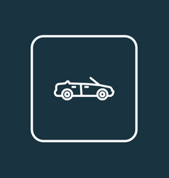 cabriolet outline symbol premium quality isolated vector image