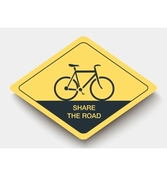 icon SHARE THE ROAD and shadow vector image