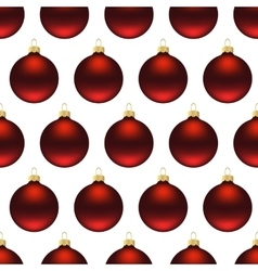 Seamless red christmas balls vector image vector image