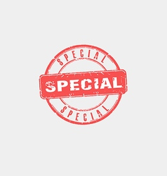 Special stamp vector image vector image