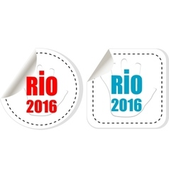 Stickers set Sign symbol Rio olympics games 2016 vector image vector image