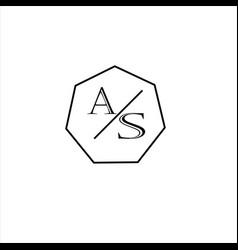 A s letter logo monogram design vector