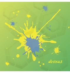 Abstract background in yellow blue and green color vector