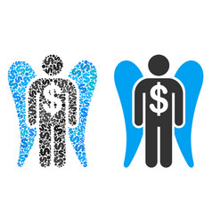 angel investor composition of dollars vector image