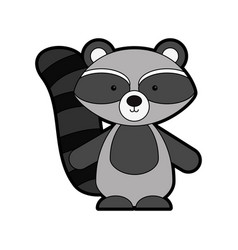 Animal raccoon cartoon vector