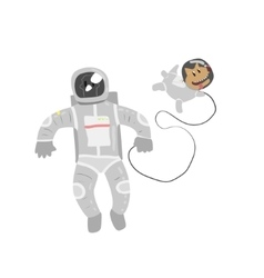 Astronaut In Space With Dog vector image