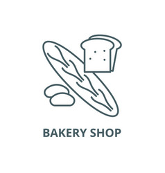 bakery shop line icon bakery shop outline vector image