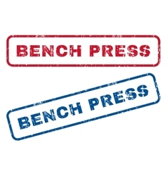 Bench press rubber stamps vector