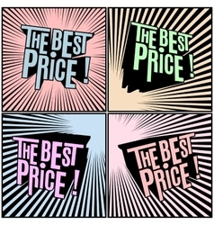 Best price wording in shaded comics background vector