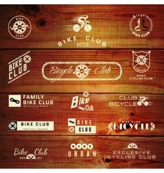 Bicycle set badges logos and labels for any use vector image