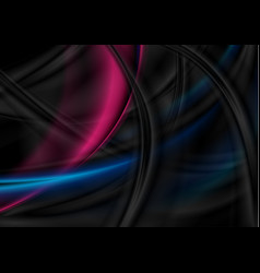black blue and purple smooth waves abstract vector image