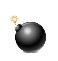 Black Bomb Isolated vector
