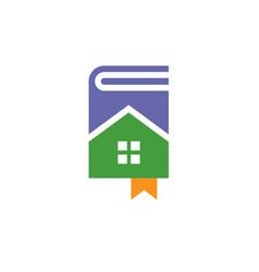 book house logo vector image