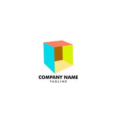 box logo template vector image