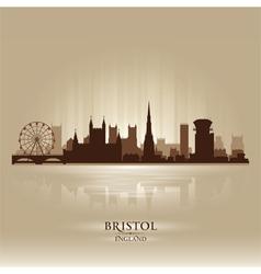 Bristol England skyline city silhouette vector image vector image