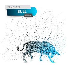 Bull dott splatter glare ice vector