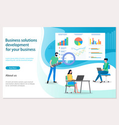 Business solutions development for your vector