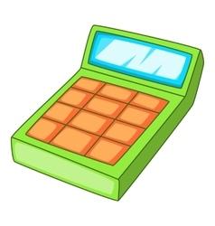 Calculation icon cartoon style vector