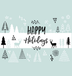 christmas card background card vector image