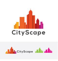 cityscapes logo design vector image
