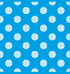clothes button pattern seamless blue vector image