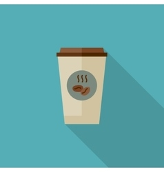 Coffee paper cup vector image