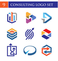 Colorful logo consulting concept vector