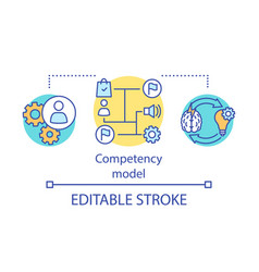Competency model concept icon vector
