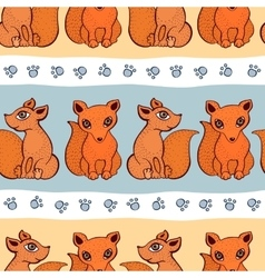 Cute fox pattern vector