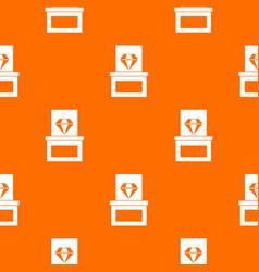 diamond in box pattern seamless vector image