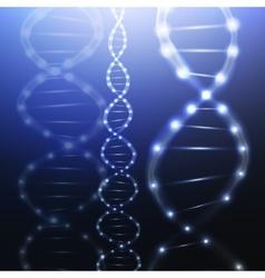 DNA molecule structure on dark background Science vector