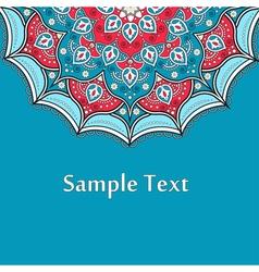 Ethnic Colorful Henna Mandala design very elaborat vector