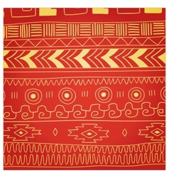 Ethnic pattern of American Indians vector image