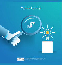 Finance analytic and opportunity research concept vector