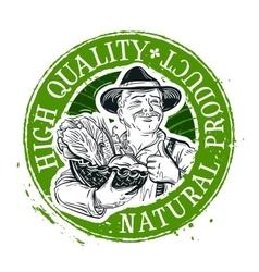 fresh vegetables logo design template food vector image