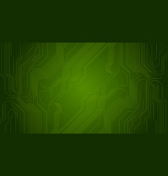 green circuit board chip technology background vector image