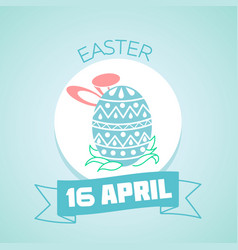 Greeting card easter vector