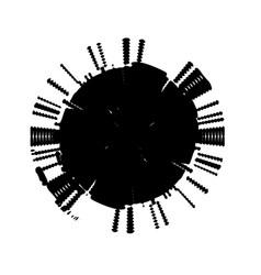 grunge spiral stamp vector image