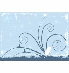 grunge winter background vector image